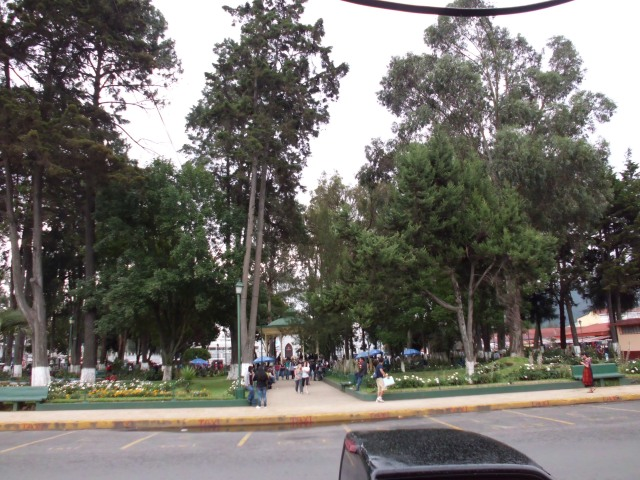 One reason I love Xela is because they have dumb little parks like this! This place is literally called parque, or park. hahaha. Lots of trees and gazebos. It is summer so there are lots of Americans as well, you might be able to spot some in this pic... enjoy!