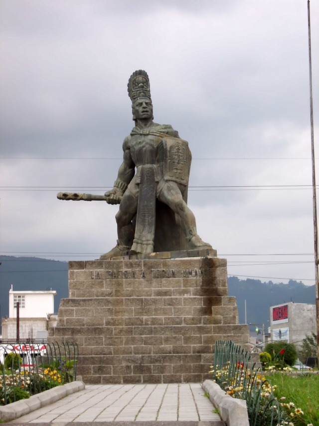 Here is another picture. It is of a famous figure here in Guatemala called Tecum Uman. He is like the Paul Bunyan of Guatemala. This statue is of him, and it is famous all around Guatemala. The name Tecun Uman is very similar to Teancum from the Book of Mormon, so all of us missionaries call him Teancum. Enjoy a bit of Chapin culture!