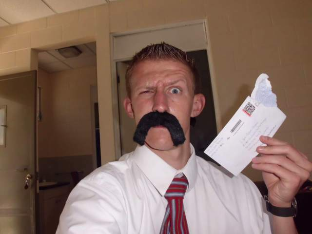 Tanner Sullivan sent me a mustache