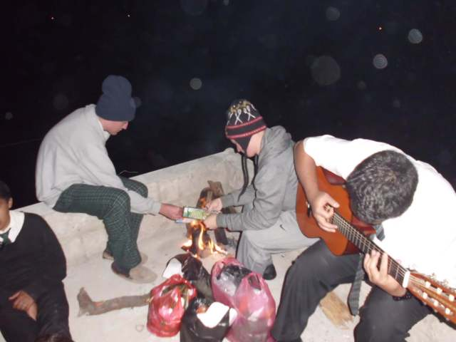 For new years we all went upon our roof, made a campfire, Elder Toleafoa had his guitar, and we sang and jammed until the fireworks went off. (it was actually really impressive. Better than Vegas!)