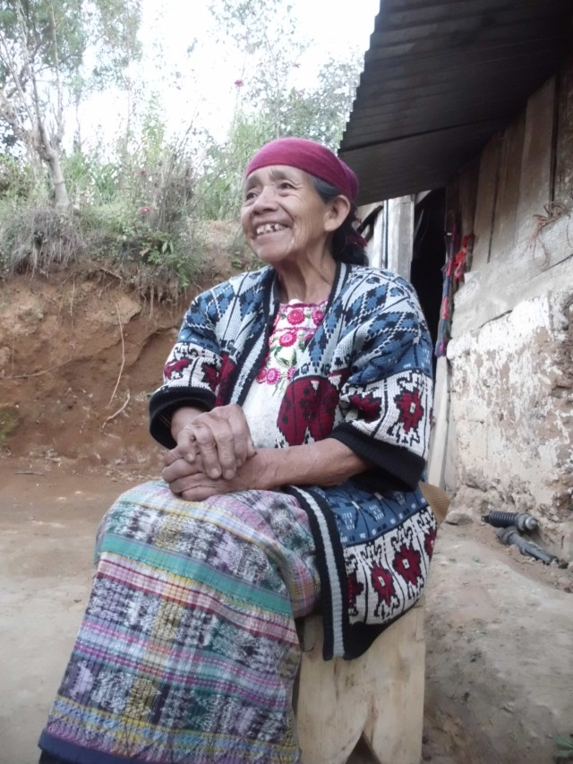 Fun story about this old woman. She was baptized 45 years ago. Barely speaks Spanish. Is endowed, and sealed to her family, attends every Sunday, her son died a few years ago, and her recompense was Q70,000. She paid Q7,000 for her tithing of course, and when she handed it to the bishop at that time, he told her that it would be better for her to keep it since she is now widowed, and without children, and that it would help her live. She then responded, ''Don't rob me of my blessings from God.'' And gave him the money. I have never met a more faithful woman here. She is 80 something years old, and this week I recorded her testimony in Ki'ché, and took this picture. Just a little cultural snidbit of Momos.